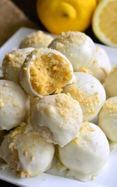 Lemon Oreo Coconut Cookie Truffles l Will Cook For Smiles