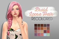 Whoohoosimblr: Braid Loose  - Sims 4 Hairs - http://sims4hairs.com/whoohoosimblr-braid-loose/