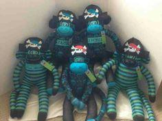 patches sock dolls monkey business christmas stocking pam socks ...