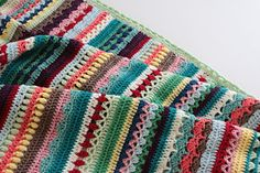 free Pattern Spice of Life blanket to crochet from Ravely