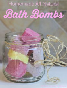Bath bombs are a great addition to your bath. These bath bombs are simple to make, and a lot of fun to drop into a warm bath as they fizz and bubble and cause the water to roll! Add essential oils for a relaxing aromatic bath.