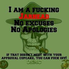 'Nuff said Marine Corps Quotes, Marine Corps Humor, Usmc Quotes, Military Quotes, Military Humor, Us Marine Corps, Military Life, Military Slogans, Marine Corps Tattoos
