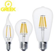 Качество Антикварной СВЕТОДИОДНЫЕ Лампы Эдисона E27 E14 Vintage СВЕТОДИОДНЫЕ Лампы 220 В Ретро Накаливания СВЕТОДИОДНЫЕ Свечи Свет Лампы 2 Вт 4 Вт 6 Вт 8 Вт
