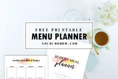 FREE Meal Planner Printable: 15 Pretty Menu Budgeting Tookit!