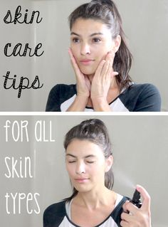 However, three steps are essential for all skin types (cleansing, toning and moisturizing) and, in order to be effective, they must be done properly. Here are tips and all-natural products no matter what your skin type:  http://www.ehow.com/ehow-style/blog/4-skin-care-tips-for-all-skin-types/?utm_source=pinterest.com&utm_medium=referral&utm_content=blog&utm_campaign=fanpage
