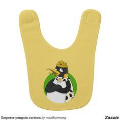 Emperor penguin cartoon bibs