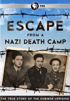 The secret Nazi death camp at Sobibor was created solely for the mass extermination of Jews. But on October 14, 1943, in the biggest and most successful prison revolt of the Second World War, the inmates fought back. This is the story of their great escape.  60 min.  http://highlandpark.bibliocommons.com/search?utf8=%E2%9C%93&t=smart&search_category=keyword&q=escape%20nazi%20death%20camp&commit=Search&formats=DVD