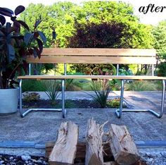 Upcycled Bench - old chair frames