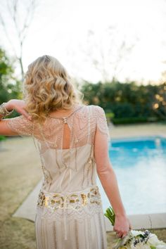 Jenny Packham Gown With Gold Embellishment | photography by http://spindlephotography.com/