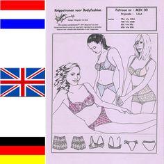 DESSOUS Schnittmuster MIX30 für BH mit Slips von Merckwaerdigh auf DaWanda.com