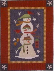 "snowman quilt patterns | Stack of Snowmen"" Our Quilt Patterns 