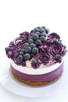 Raw Food Recipes, Baking Recipes, Cake Recipes, Dessert Recipes, Chess Cake, Raw Cake, Blueberry Cake, Sweet Pastries, Buttercream Cake