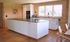 TEAM 7 Küche mit Glas Kitchen Island, Kitchen Design, Home Decor, Log Home, Kitchen Contemporary, Home, Corning Glass, Homes, Island Kitchen