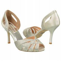 This comes in three shades Women's Badgley Mischka Tatiana White Satin Shoes.com