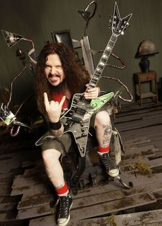"Dimebag Darrell (1966-2004) The former Pantera guitarist was performing with his new band Damangeplan in Columbus, Ohio, when a mentally disturbed Marine named Nathan Gale opened fire from the front row with a 9mm Beretta handgun. Three shots hit Darrell in the head, the third killing him instantly. Jeff ""Mayhem"" Thompson, the band's head of security, was killed trying to tackle Gale, as was venue employee Erin Halk."