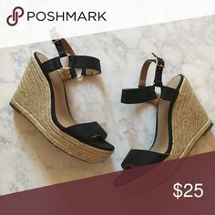 DONATING SOON 💕 Merona Espadrille Wedges Worn once for two hours - perfect condition! Merona Shoes Wedges