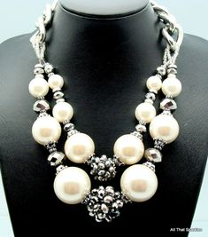 big bold pearl necklace - Google Search