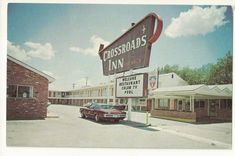 Chrome Postcard- Roadside View of Crossroads Inn, Vernon, Wilbarger County, Texas, TX. Funny Postcards, Photo Postcards, Vintage Postcards, Vernon Tx, Next Sunday, Lancaster County, Los Angeles County, Great Photos