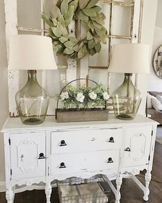 Shabby Chic ❤️❤️❤️ common ground : Antique Sideboard Buffet Makes a Comeback Vacuums Commercial or D Shabby Chic Kitchen, Shabby Chic Homes, Shabby Chic Decor, Shabby Chic Dining, Shabby Chic Interiors, Country Decor, Farmhouse Decor, Shabby Chic Farmhouse, Farmhouse Style