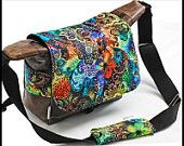 OOAK Professional Doctors Bag  DSLR Camera Bag  Unisex Marble Naked Leather - Large Tutti Frutti Part of a TAGT team Etsy treasury, click to see more.