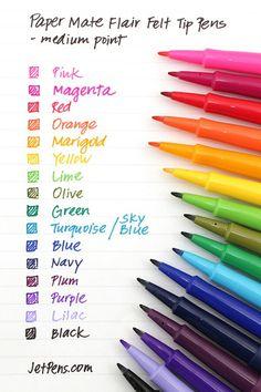 Paper Mate Flair Felt Tip Pen - Medium Point - Magenta Pens For Bullet Journaling, Pecan Cobbler, Cute School Supplies, Jet Pens, Bullet Journal Inspiration, Journal Ideas, Fountain Pen, Stationery, Journals