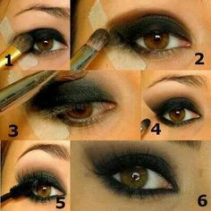 Trick for faultless Smoky Eyes. #Makeup tips from Wahida Benferhat to help you look good!