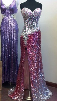 gorgeous sparkly pink and silver 2014 prom dress from AE dresses!