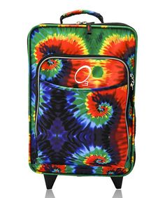 Take a look at this Tie-Dye All-in-One Rolling Suitcase by O3 on #zulily today! You could spot this on the moon.