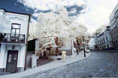 Andrews Descent, Kiev in infrared film.