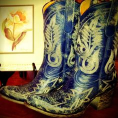 Old Gringo Nevada Blue Cowgirl Boots at RiverTrail in North Carolina.
