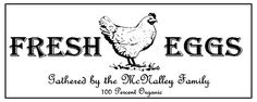 Organic Egg Carton Labels by CarrotsandHeaps on Etsy, $18.00
