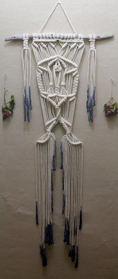 Macramé is one of the most stunning and classic forms of art the 1970s has left with us. This one of a kind wall hanging was inspired by that era