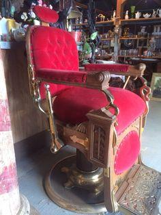 Antique Koken Barber Chair Vintage Restored Parlor   eBayVINTAGE 1910 s KOKEN BARBER CHAIR ANTIQUE SURVIVOR   Barber shop  . Ebay Barber Chairs Used. Home Design Ideas