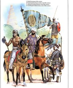 Historical Warrior Illustration Series Part XVIII Military Art, Military History, Abbasid Caliphate, Armadura Medieval, Early Middle Ages, Historical Art, Dark Ages, Ancient Civilizations, Islamic Art