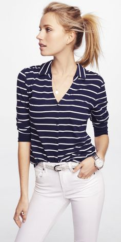 Simple, yet chic. #Express Idk about the belt..