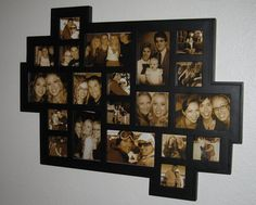 There is no better decoration than with a cool collage frame with all your favorite pictures of friends and family..