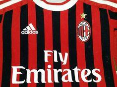 ADIDAS AC Milan Football Shirt #milan#acmilan#forzamilan#soccer#football#futbol#jerseys#seriea#calcio#ebay#ebayseller