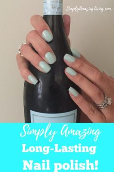 I love this long-lasting nail polish!  Just four easy steps to fabulous nails! #ad #nails #naildesign #nailcolor #nailpolish #fabulousnails #fashionnails #longlastingnailpolish #nailideas