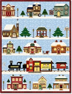 Holiday Snow Village Block of the Month - Stitchin' Heaven is your premier Texas quilt shop