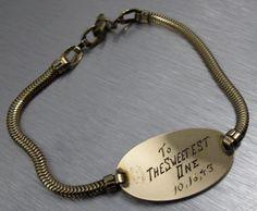 Vintage World War II Sweetheart Bracelet by TonettesTreasures