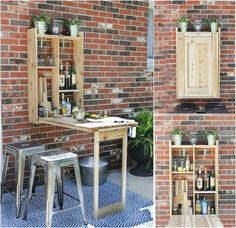 SO clever for a small patio space!