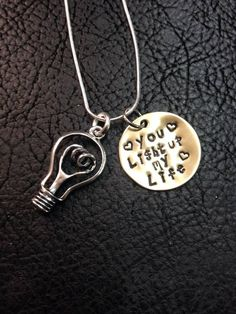 You Light Up My Life Electrician Hand Stamped Necklace ❤️ Electrician Humor, Electrician Gifts, Hand Stamped Necklace, Dog Tag Necklace, Creative Gifts, Great Gifts, Lineman Love, Silver Creek, Valentine Gifts