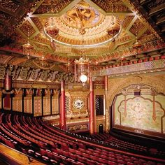 The 5th Avenue Theatre in Seattle, another grand movie theater in the past.