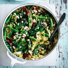 Spring Vegetable Paella | 29 Gorgeously Green Recipes To Get You Excited About Spring
