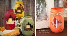 Autumn, Fall, Mason Jars, Sewing Projects, Planter Pots, Home Decor, Decoration Home, Fall Season, Fall Season