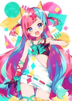 Pinky Pop Hepburn Girls Anime, Anime Girl Cute, Anime Child, Anime Art Girl, Manga Art, Manga Kawaii, Arte Do Kawaii, Kawaii Art, Kawaii Anime Girl