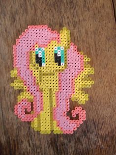 Fluttershy loves hama beads by ~A-Little-Dragon