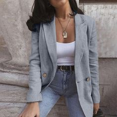 Classy Work Outfits, Business Casual Outfits, Mom Outfits, Everyday Outfits, Chic Outfits, Trendy Outfits, Mode London, Casual Blazer Women, Women's Casual