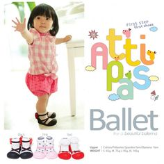 Attipas Baby Shoes  made in Korea  Size*: M (8-18 months / 10.9 - 11.5 cm length, 75 gram) L (18-27 months / 11.6 - 12.5 cm length, 95 gram) XL (27-40 months / 12.6 - 13.5 cm length, 105 gram)  Shipping: 500gram (16 x 15 x 12 cm)