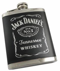 Jack Daniels Black Label 6oz Stainless Steel Flask